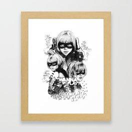 Hit-Girl Framed Art Print