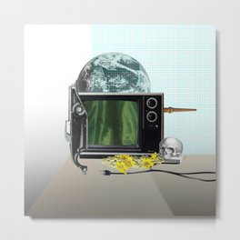 Still life with TV Metal Print