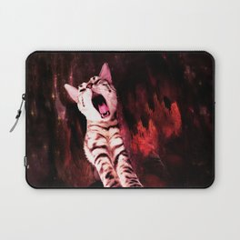 The Great Kitty Warrior of the Fiery Cat Cavern Laptop Sleeve