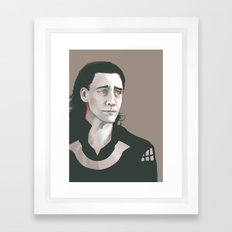 Loki (Tom Hiddleston) Framed Art Print