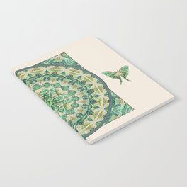 Luna Moth Meditation Mandala Notebook