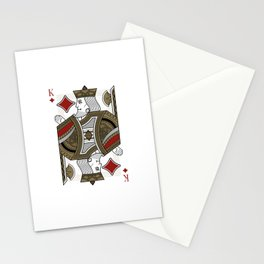 Omnia Oscura King of Diamonds Stationery Cards