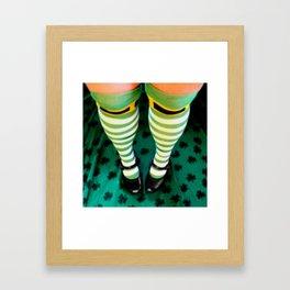 Sassy Leprechaun Framed Art Print