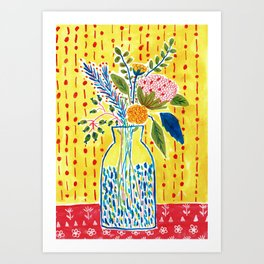 Yellow Vase Art Print