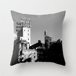 Gold Medal Flour, Minneapolis Throw Pillow