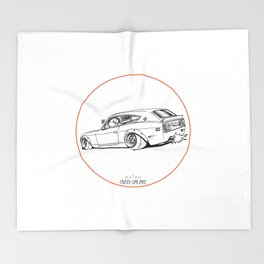 Crazy Car Art 0225 Throw Blanket