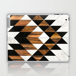 Urban Tribal Pattern 9 - Aztec - Concrete and Wood Laptop & iPad Skin