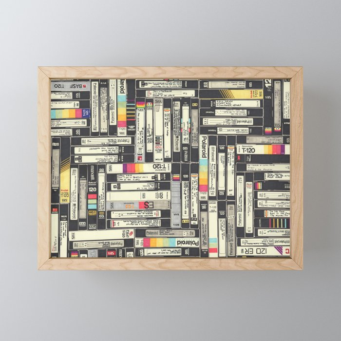 VHS II Framed Mini Art Print