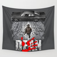 dean winchester Wall Tapestries featuring Dean by Six Eyed Monster