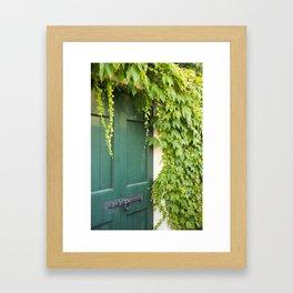 Green Door with Ivy, Bellagio Framed Art Print