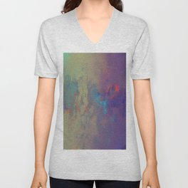Industral Abstract, Cooling and Burning Metal Unisex V-Neck