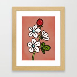 Strawberry Bloom Framed Art Print