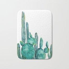 cactus jungle watercolor painting Bath Mat