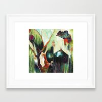 "flora bowley Framed Art Prints featuring ""Temple Lilies"" Original Painting by Flora Bowley by Flora Bowley"