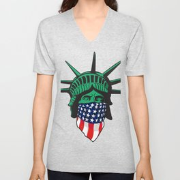Statue of Liberty USA Unisex V-Neck