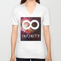 infinite V-neck T-shirts featuring Infinite by Sney1