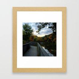 Madam Brett Park in Autumn - Beacon NY Framed Art Print