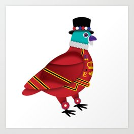 BEEFEATER PIDGEON Art Print