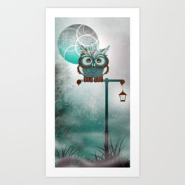 Fluffy Owl Art Print
