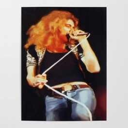 Ramble On (Robert Plant Painting) Poster