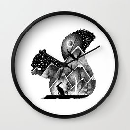 INTO THE MOUNTAINS Wall Clock
