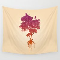 splatter Wall Tapestries featuring Splatter Tree by CoryFreemanDesign