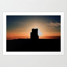 Brien's Tower At Sunset Art Print