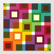 Colorful square pattern Canvas Print