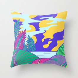 Fantasy Valley Throw Pillow