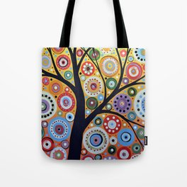 Abstract Art Landscape Original Painting ... Sun Arising Tote Bag
