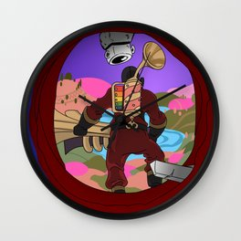 Pyro Red Team Wall Clock