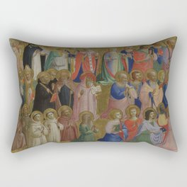 Fra Angelico - The Virgin Mary with the Apostles and Other Saints Rectangular Pillow