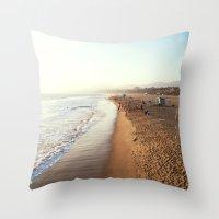 santa monica Throw Pillows featuring Santa Monica by Kelli Anne