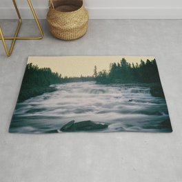 Flowing water in a river Rug