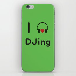 I heart DJing iPhone Skin