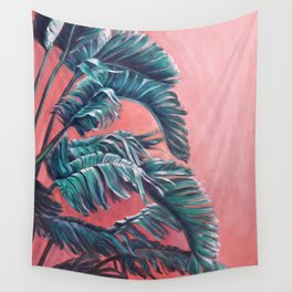 Palm Leaves_Oil on wood Wall Tapestry