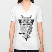 illuminati V-neck T-shirts featuring Illuminati by Wink