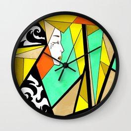 Lady in Orange Wall Clock