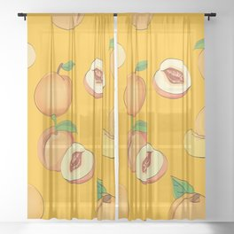 Peach Pattern 3 Sheer Curtain