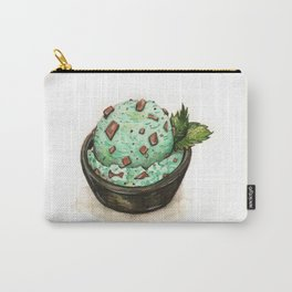 Mint Chocolate Chip Ice Cream Carry-All Pouch