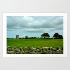 Speeding By The Irish Countryside Art Print