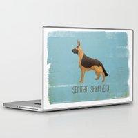 german shepherd Laptop & iPad Skins featuring German Shepherd by 52 Dogs