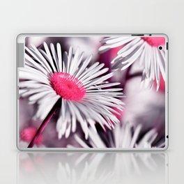 Marquerite white pink 01 Laptop & iPad Skin