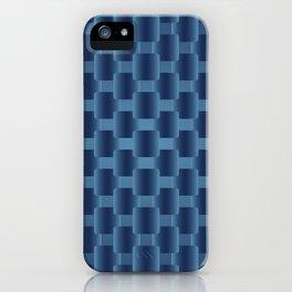 background dark blue  squares iPhone Case