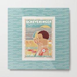 Scheveningen Vintage Dutch Travel Poster Metal Print