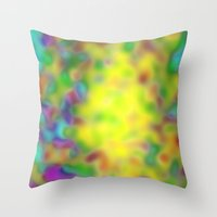 blur Throw Pillows featuring Blur by Mr & Mrs Quirynen