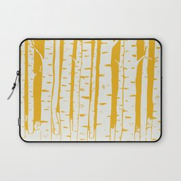 Birch forest in yellow Laptop Sleeve