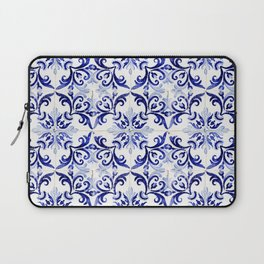 Azulejo V - Portuguese hand painted tiles Laptop Sleeve