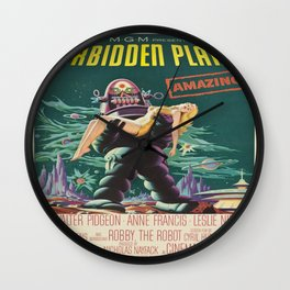 Vintage poster - Forbidden Planet Wall Clock