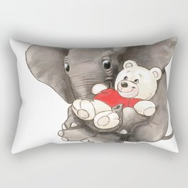 Baby Boo with Teddy Rectangular Pillow